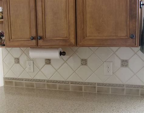 Backsplash Tile For Kitchen Ideas Backsplash Grazia Rixi Noce At The Bottom Amp Crema On The