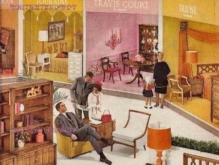 drexel meridian livingdining room furniture ad