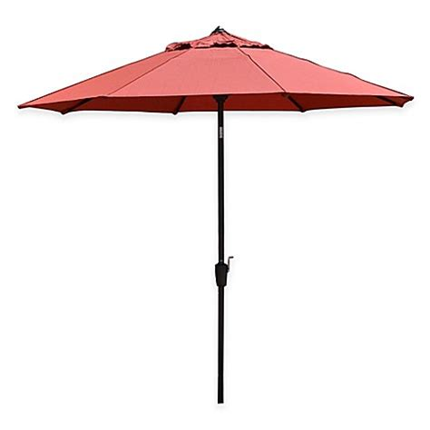 Orange Patio Umbrella Buy Living 9 Foot Patio Umbrella In Mango Orange From Bed Bath Beyond