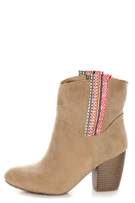 tribal pattern ankle boots pink pepper mantle light natural tribal print ankle