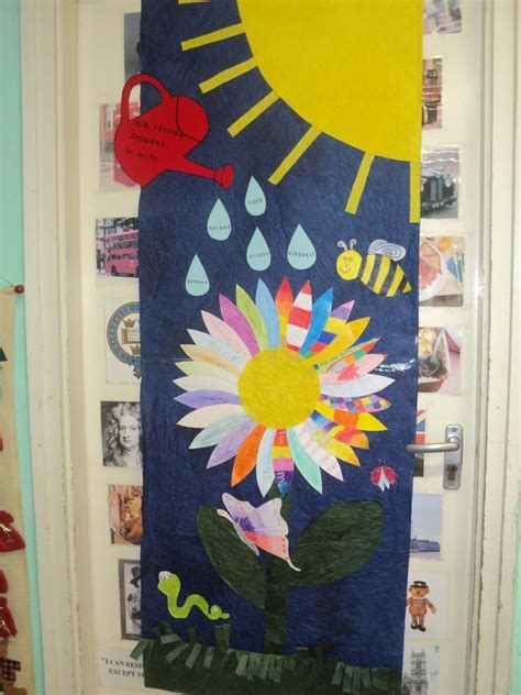 spring door decorations spring door decoration in the language classroom