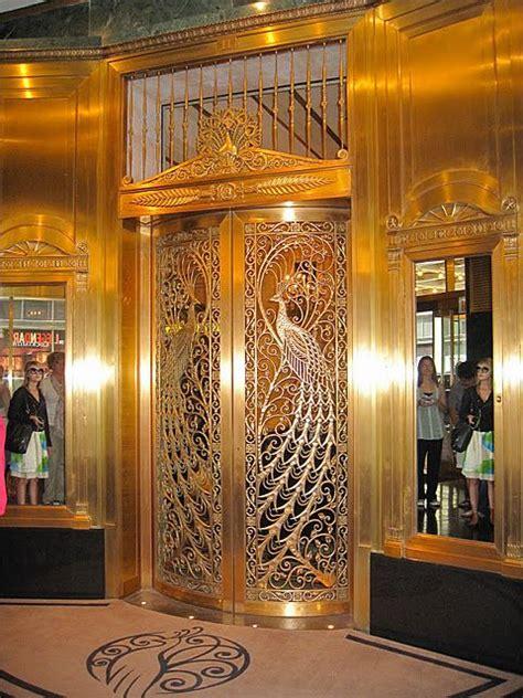 Antique Doors Chicago - chicago elevator doors with deco peacock motif birds