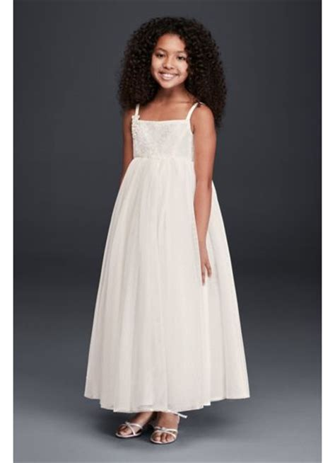 Ricci Tulle Tank Dress It Or It by Tank Tulle Gown With Lace Applique David S Bridal