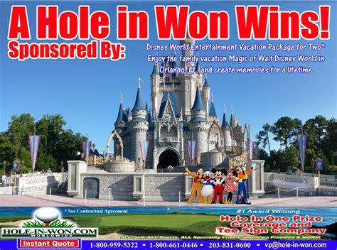 disney world hole   insurance prize description