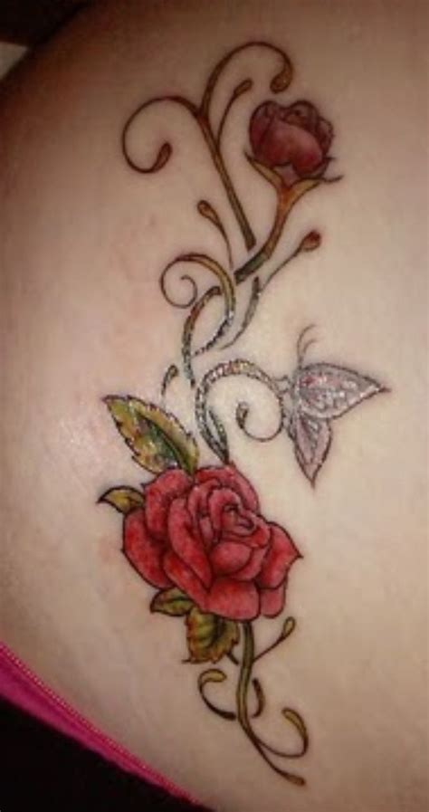 butterfly and rose tattoo 15 best and butterfly tattoos images on
