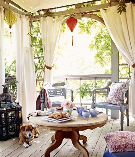 italian canvas tent veranda decorated   styles