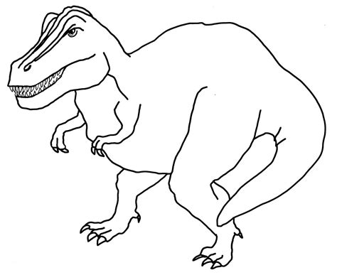 free coloring pages of dinosaur drawings print