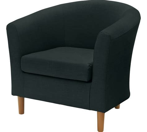 armchairs at argos buy colourmatch fabric tub chair jet black at argos co