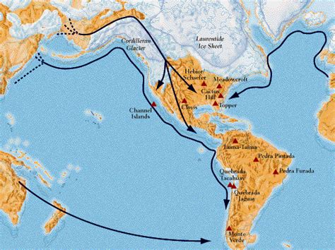american migration from asia map the original inhabitants