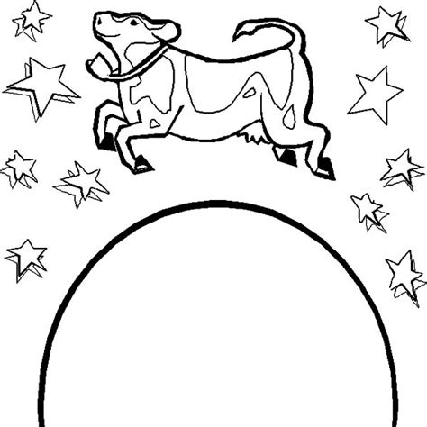 coloring page cow jumping over moon cow jumping over the moon coloring pages