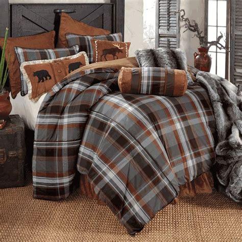 glacier bay plaid bear moose bed set queen bedroom ideas rustic bedding rustic bedding