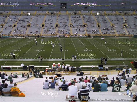 section 110 lambeau field lambeau field section 115 seat views seatgeek