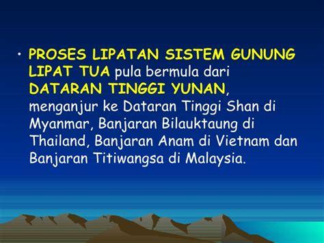 Shoo Himalaya Di Malaysia sistem gunung lipat