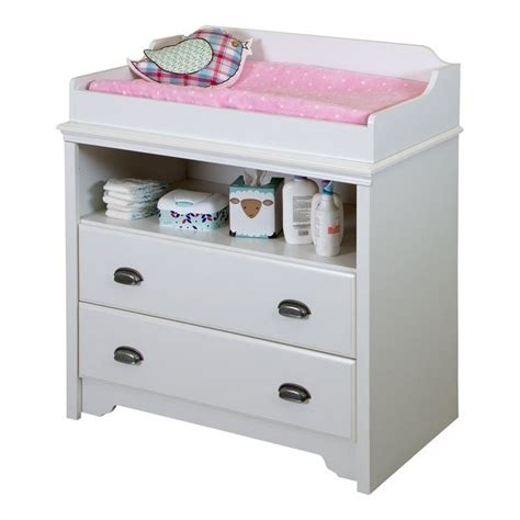 South Shore Fundy Tide Pure White Baby Changing Table Ebay White Changing Table