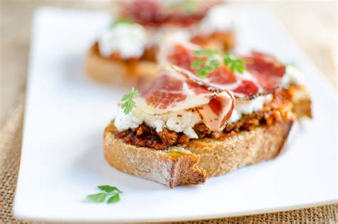 recettes de cuisine fran軋ise facile tartine corse au brocciu coppa et pesto