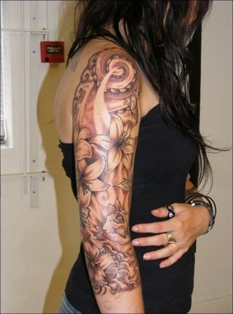 flower tattoo half sleeve designs floral half sleeve tattoos for fashion and