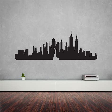 Our City Am 9030 Stiker Dinding Wall Sticker 1 new york city skyline vinyl wall decal vinyl revolution