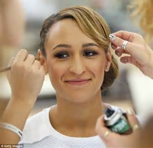 hair and makeup ennis jessica ennis celebrates her olympic success with a day of