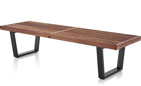 nelson bench george nelson platform bench with wood base hivemodern com