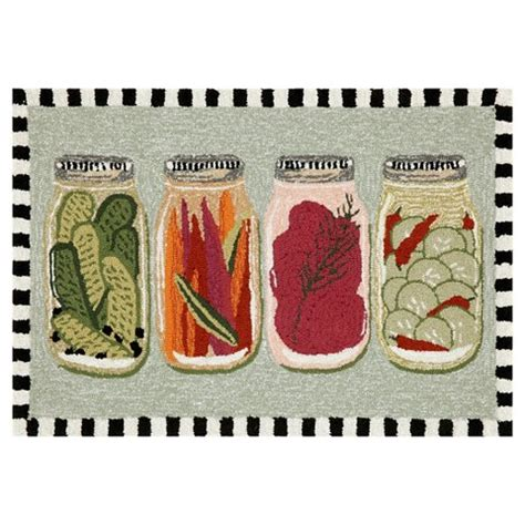 Vegetable Kitchen Rugs Canned Vegetables Kitchen Rug Target