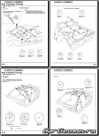 motor auto repair manual 1995 acura nsx free book repair manuals контрольные размеры кузова honda nsx и acura nsx 1995 2005 body repair manual
