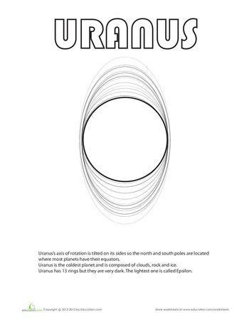 uranus planet coloring page how to draw planet uranus