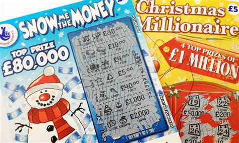 scratch card festive with lottery scratch cards