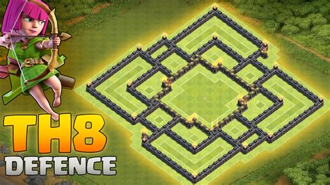 images for strongest base for clash of clans clash of clans strong th8 defence base layout all new