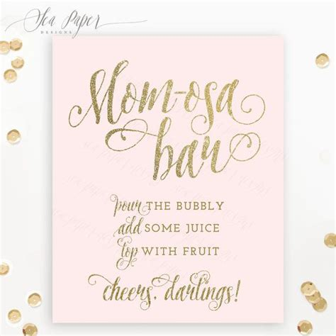 Free Printable Bar For Baby Shower by Osa Bar Sign Baby Shower Mimosa Bar Sign Printable