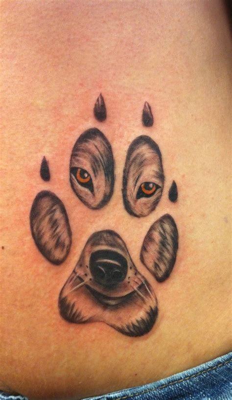 wolf paw print tattoo best 20 wolf paw tattoos ideas on wolf print