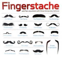 fingerstache mustache tipes of mustaches image 431954