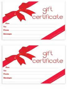 Generic Gift Certificate Template by Free Gift Certificate Template Customizable