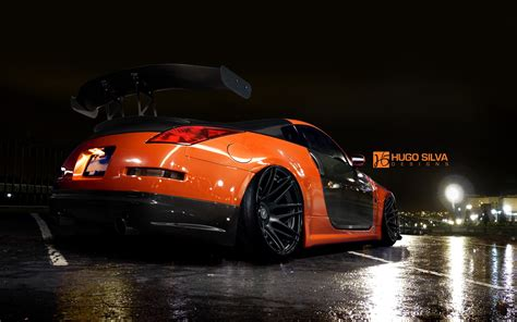 Cool Car Wallpapers 1366 78006 Homes by Orange Nissan 350z Wallpaper Hd Car Wallpapers Id 4915