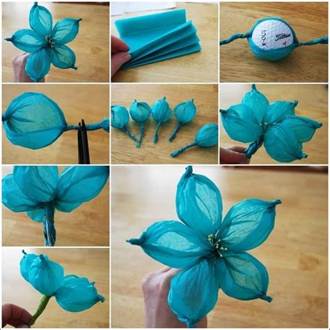 How To Make Tissue Paper Flower Balls - stunning tissue paper flower made with a golf