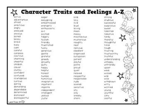 Character Traits Letter U Character Traits Clipartfest Clipart For Character Traits Minor Character Traits Clipart