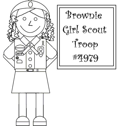 brownie elf coloring page