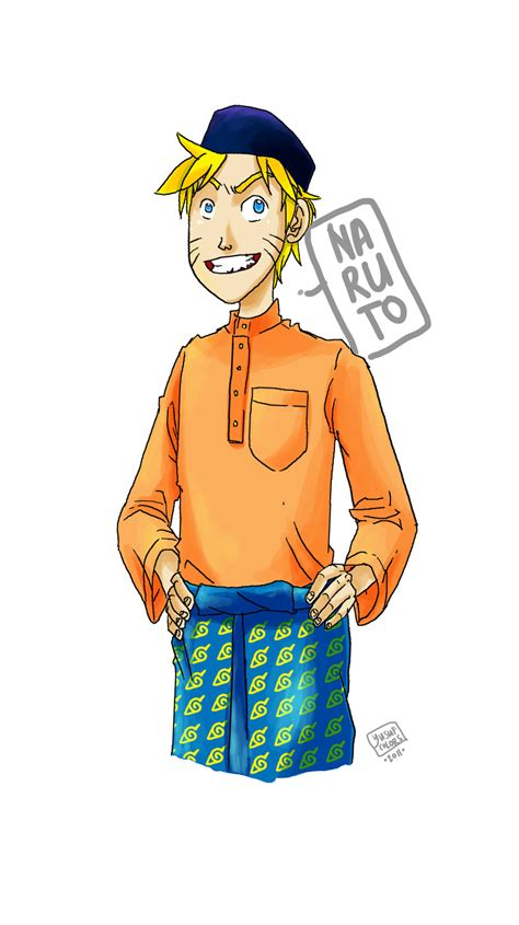 baju anime and quot baju melayu quot by yusufcolors on deviantart