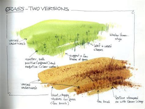 watercolor grass tutorial brushes grasses and watercolors on pinterest