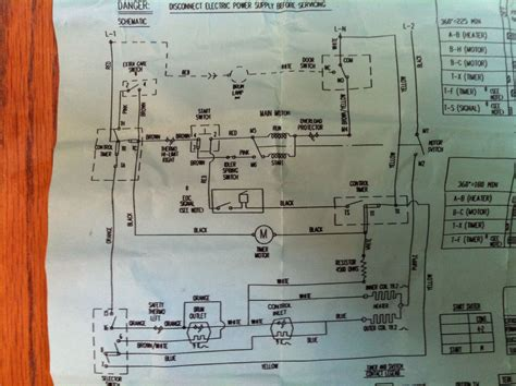 ge washer motor wiring diagram i a ge electric dryer which will not run it has