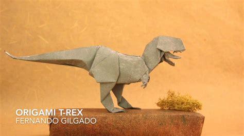 tutorial origami t rex origami t rex by fernando gilgado tutorial youtube