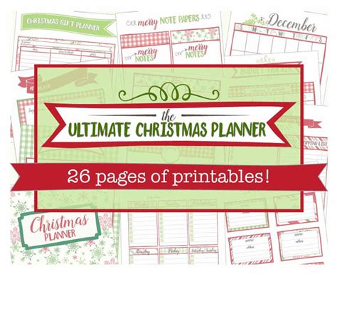 printable christmas organiser the ultimate christmas planner printable holiday organizer
