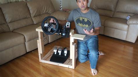 homemade steering wheel desk how to make quot the best homemade logitech g27 gaming wheel