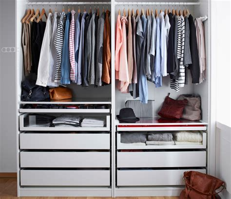 ikea open closet one wardrobe for the whole family it s possible