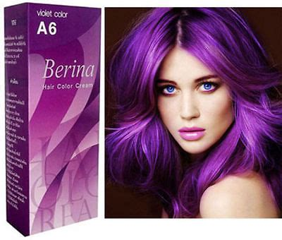 permanent purple hair color berina violet hair color permanent hair ebay