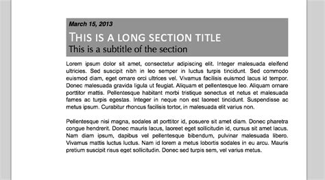 title section sectioning section title with subtitle tex latex