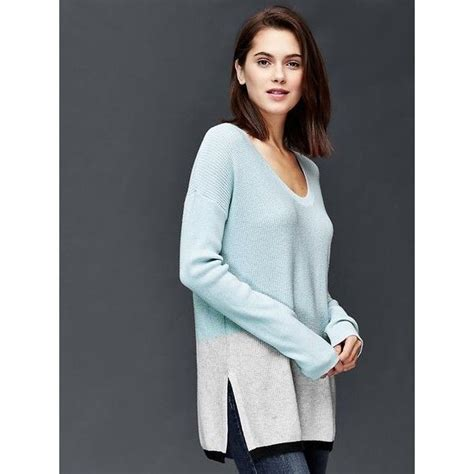 Sweater Air gap colorblock pullover sweater featuring