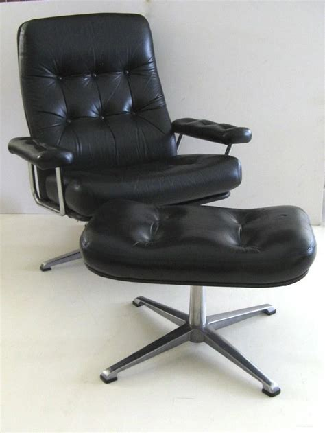 Lounge Chair Ottoman Design Ideas Johannson Designs Leather Lounge Chair And Ottoman Black Tulip Antiques Ltd Ruby