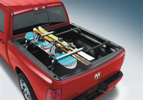truck bed snowboard rack mopar oem dodge ram thule bed mount ski and snowboard