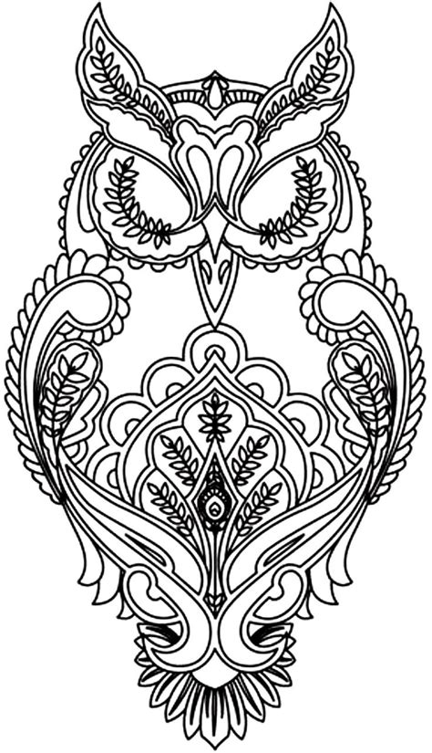coloring pages for adults owls free coloring pages of difficult dragons