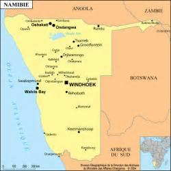 carte politique namibie